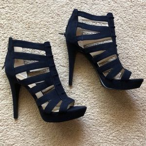 Navy blue, Suede, Nine West heels, Size 8 1/2